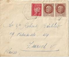 Ausland Brief  St.Georges Nigremont - Zürich           1943 - France