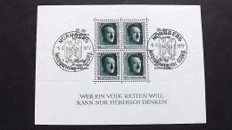 Deutsches Reich 648 Block 9 Oo/SST, Kulturförderung - Blocks & Kleinbögen