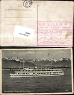 84482,Motorschiff Allgäu Mit Den Alpen Dampfer Detailansicht - War 1939-45
