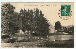 Pressigny / Une Partie De Pêche Sur L´ Etang / Canotage / 1911 - Autres Communes