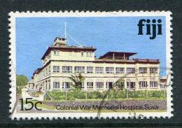 Fiji 1979-94 Architecture - No Imprint Date - 15c Colonial War Memorial Hospital Used (SG 587A) - Fiji (1970-...)