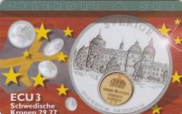 Denmark, P 134,  ECU-Sweden,  Mint, Only 700 Issued, Coin, Flag, 2 Scans. - Denmark