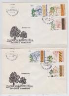 Mozambique TREES 2x FDC 1984 - Alberi