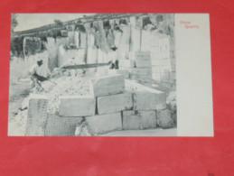 BERMUDA / BERMUDES    1902   METIER TAILLEUR DE PIERRE / STONE QUARRY    CIRC NON EDITION - Bermudes