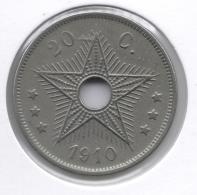 CONGO - ALBERT II * 20 Cent 1910 *  Prachtig  * Nr 9009 - Congo (Belge) & Ruanda-Urundi