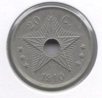 CONGO - ALBERT II * 20 Cent 1910 *  Prachtig / FDC  * Nr 9008 - Congo (Belge) & Ruanda-Urundi