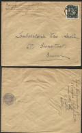"""N°768 Obl. KUURNE S/ Lettre Vers Bxl 1949 + Man. """"BEVAT VERBODEN WAARDEN"""" Et Décalque Pièce De Monnaie Au Crayon (769) - 1948 Esportazione"""