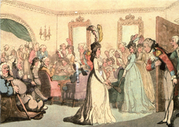 Company At Play By Thomas Rowlandson Comforts Of Bath 1798 - Receptions
