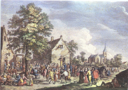 Flamisches Fest By Kupferstich Von Martini & Jacques Philippe Lebas Paris 1770 - Events