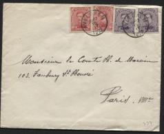 Lettre Obl. AVELGHEM Vers Paris 1922 (774) - 1915-1920 Albert I
