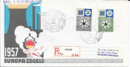 N° 678/679 EUROPA PAYS BAS  -  SUR LETTRE RECOMMANDEE  16.09.57 - FDC