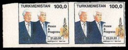 TURKMENISTAN - Peace & Progress - 2 Valori: 21.03.93 / 22.03.93 - Turkmenistan