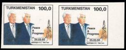 TURKMENISTAN - Peace & Progress - 2 Valori: 24.03.93 / 25.03.93 - Turkmenistan