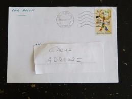 LE TAMPON - REUNION - FLAMME MUETTE DOUBLE CERCLE SUR YT 3000 TOUR EIFFEL - Postmark Collection (Covers)