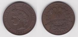 10 CENTIMES - CERES 1897 A En Bronze SUPERBE  (voir Scan) - France