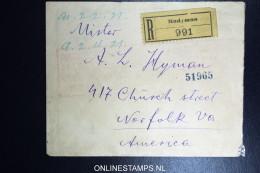 Poland Registered Cover 1921 Radymno To USA - 1919-1939 Republik