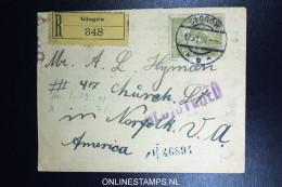 Poland Registered Cover 1921 Glogow To USA - 1919-1939 Republik