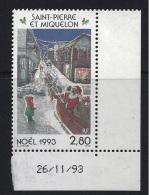 MINT  -  CHRISTMAS  -  1993 -  SAINT PIERRE ET MIQUELON     -  **  /  MNH - Sin Clasificación