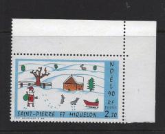 MINT  -  CHRISTMAS  -  1990 -  SAINT PIERRE ET MIQUELON     -  **  /  MNH - St.Pierre & Miquelon