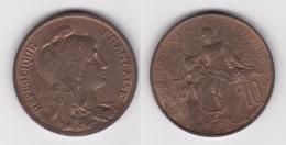 10 CENTIMES - DANIEL DUPUIS 1898  En Bronze  (voir Scan) - France