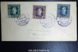 Poland Cover 1919 Polska Poczta OLKUSZ Mixed Stamps, - ....-1919 Provisional Government