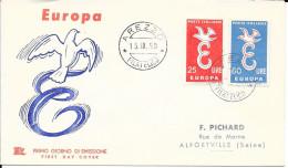 N°  765/766  EUROPA  ITALIE   FDC    -  1958 - 6. 1946-.. Republic
