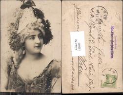 153089,Schöne Frau M. Hut Hutmode Mode Um 1900 - Mode