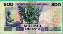 500 Shilingi - Tanzanie - N°. AG617614 - TB+ - - Tanzanie
