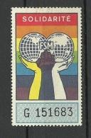 Poster Stamp Advertising Solidarite MNH - Cinderellas