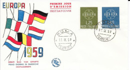 N°  804/805   EUROPA  ITALIE  FDC    -  1959 - 6. 1946-.. Republic