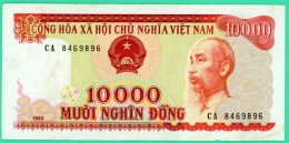 10000 Dong - Viet-Nam - N° CA 8469896 - TTB + - 1993 - - Vietnam