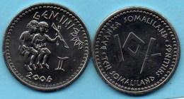 SOMALILAND / SOMALIE 10 Shillings Signe Zodiaque GEMEAUX   2006  UNC / NEUVE - Somalie