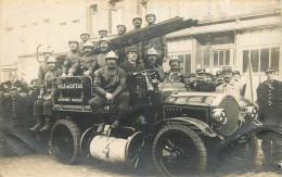 59 - NORD - Le Cateau - Carte Photo - Autopompe Mieusset - Automobile - Pompiers - Le Cateau