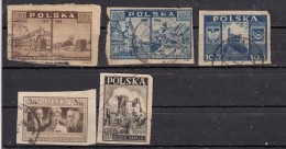 Pologne  Timbre 1946 - 1947   5 Valeurs - 1944-.... Republik