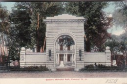 Soldiers Memorial Arch Concord New Hampshire - War Memorials