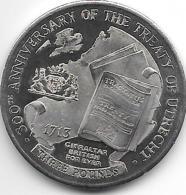 *gibraltar 3 Pounds   2013   300 Years Tready Of Utrecht - Gibraltar