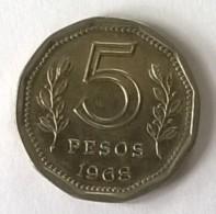 ARGENTINE -  5 Pesos 1968 - TTB - - Argentine