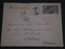 TAHITI - Env Recommandée Avec Entier + Complément D'affr De Papeete Pour Bordeaux - Oct 1894 - Superbe - Rare - P20168 - Tahiti