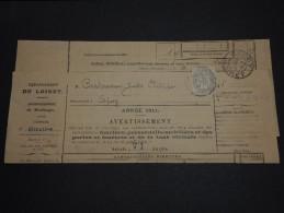 FRANCE – Type Blanc Sur Avertissement Des Contributions Directes - Détaillons Collection - A Voir - N° 17553 - 1900-29 Blanc