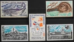 TAAF 1977/78 -  Du N° 71 Au N° 75  - 5 Timbres NEUFS** - Parfait Etat - - Unused Stamps