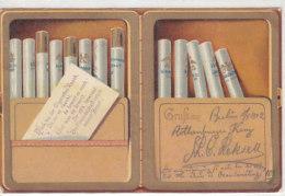 Denk Beim Zigarettenrauch ... - Litho 1902     (160710) - Saluti Da.../ Gruss Aus...