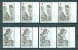 BELGIE - OBP Nr 1454/1455 - Rode Kruis - PLAATNUMMER 1/4 - MNH** - Numéros De Planches