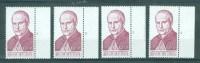 BELGIE - OBP Nr 1499 - Mgr. Scheppers - PLAATNUMMER 1/4 - MNH** - Numéros De Planches