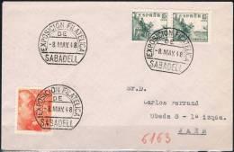 1948.-  SABADELL A JAÉN - 1931-50 Cartas