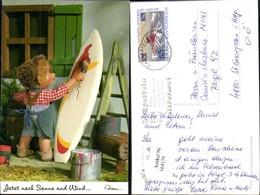164179,Mecki Igel AK Nr 510 Jetzt Noch Sonne Und Wind Surfbrett Malen Surfen - Mecki