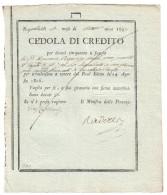 NAPOLI CEDOLE DI CREDITO 1806 50 DUCATI EMISSIONE 1807 GIUSEPPE NAPOLEONE RARA  Lotto.1392 - [ 4] Emissioni Provvisorie