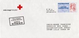 France, Red Cross, Postal Stationery, Marianne By Ciappa/Kavena, MNH VF - Postal Stamped Stationery