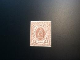 Luxemburg Luxembourg 1859 25c, EXTREMELY FINE, Unused * RARE VARIETY, Signed  Köhler, Scheller. Michel 8