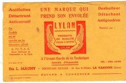 Juil16   75607  Buvard   Lylam    Produit Pour L'auto    Ets Mauny  La Varenne - Gas, Garage, Oil