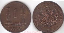 NIGERIA 1 Kobo 1974 KM#8.1 - Used - Nigeria